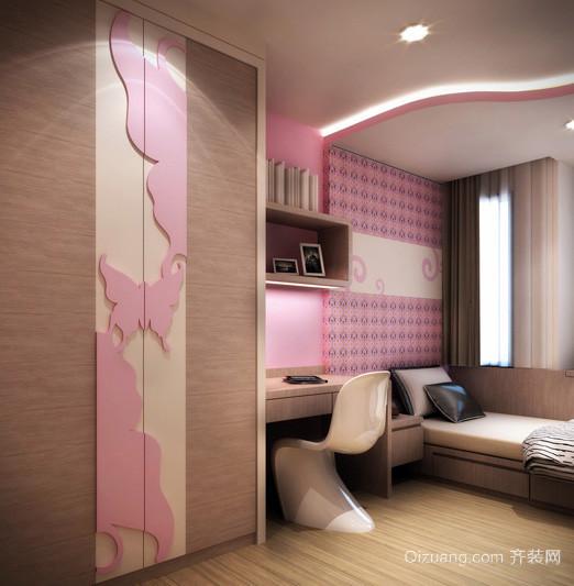 三居室田园风格儿童卧室装修效果图