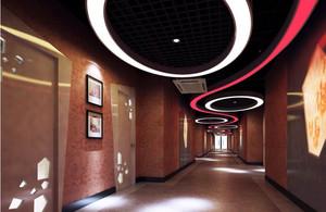 五星级酒店走廊个性吊顶装修设计效果图