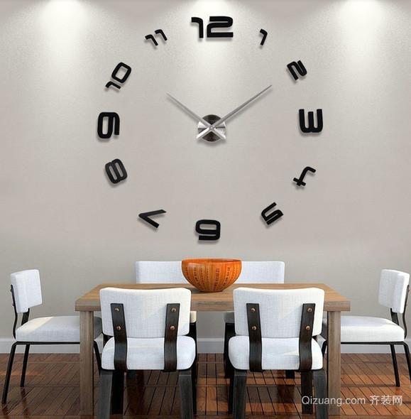 别墅宜家风格客厅挂钟装修效果图