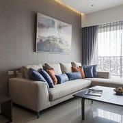 复式楼都市清新风格客厅简约家具装修效果图