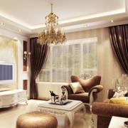 现代欧式大户型客厅飘窗装修效果图鉴赏