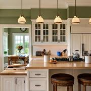欧式风格厨房吊灯装饰