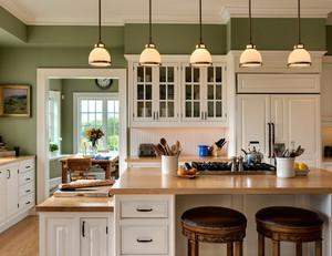 欧式简约风格30平米开放式厨房装修效果图