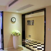 108平米简朴型客厅挂钟装修效果图
