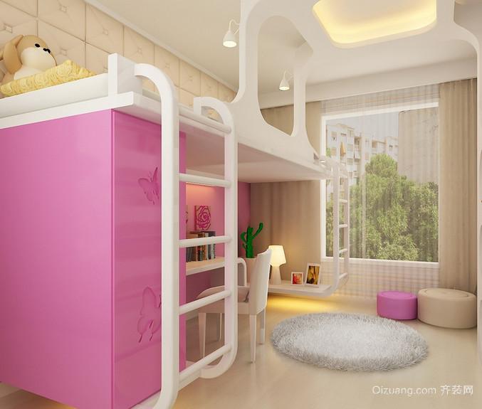 现代欧式大户型儿童卧室装修效果图鉴赏