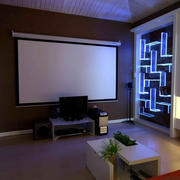 现代简约风格小型公寓家庭影院装修效果图