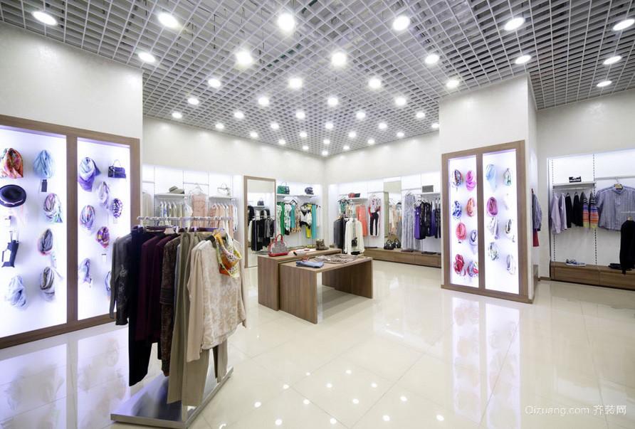 都市时尚大户型服装店装修设计效果图