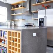 后现代风格loft风格公寓客厅吧台装修效果图