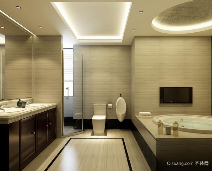 90平米大户型欧式卫生间装修效果图实例欣赏