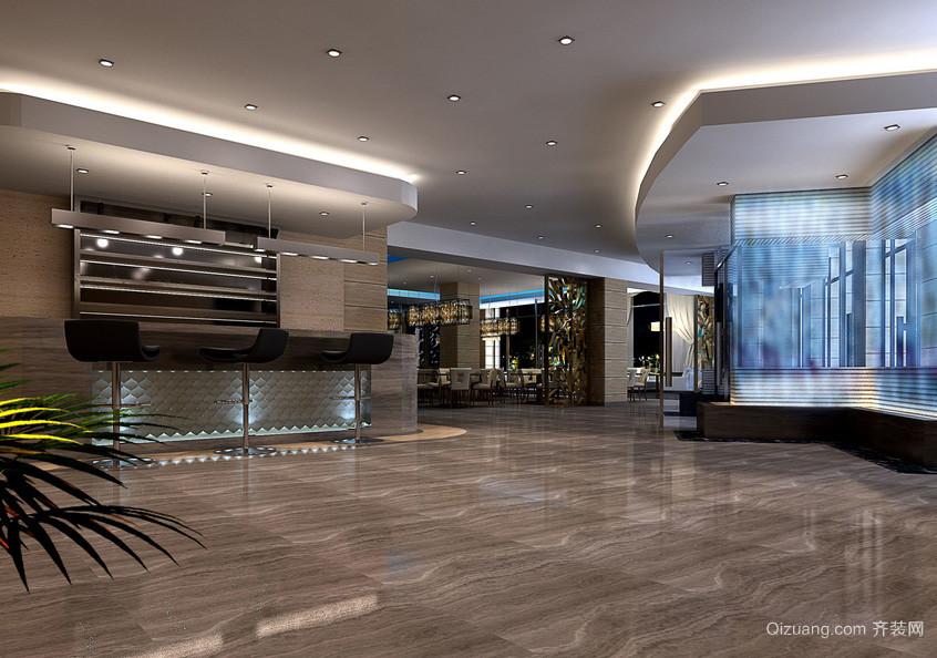 现代前卫酒店餐厅装修设计效果图