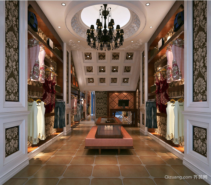 复古欧式大户型服装店装修设计效果图