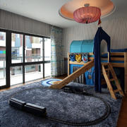 复式儿童房高低床