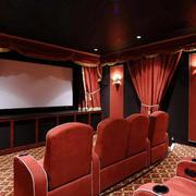 三居室简约风格家庭影院装修效果图
