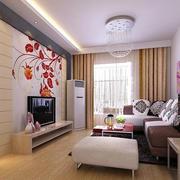 2016大户型自然风格客厅装修效果图