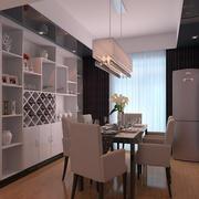 现代100平米两居室餐厅效果图