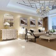 90平米欧式大户型客厅装修效果图欣赏
