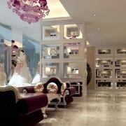 120平米欧式奢华风格婚纱影楼装修效果图
