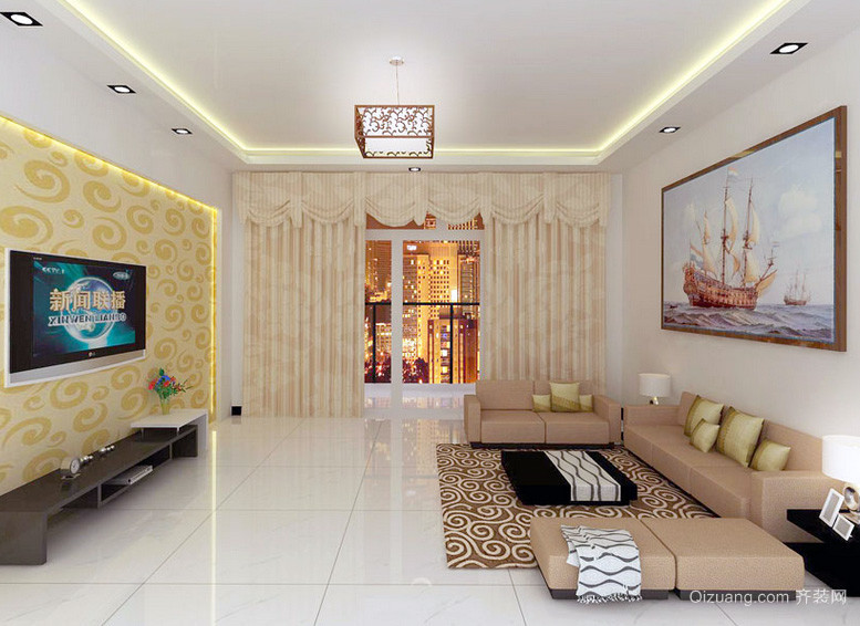别墅时尚风格客厅装修效果图