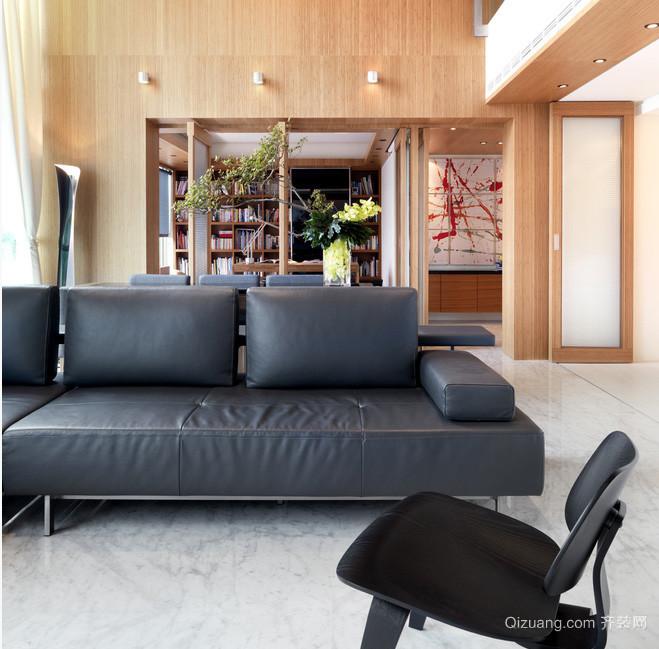现代个性260平米复式楼装修效果图
