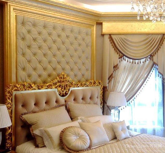 欧式大户型卧室软包背景墙装修效果图鉴赏