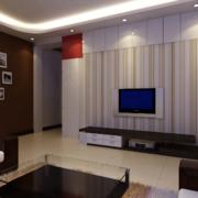 现代90平米大户型欧式电视机背景墙装修效果图