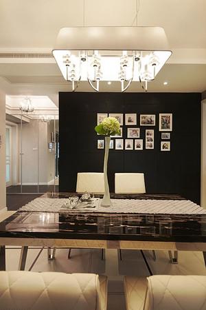 跃层住宅式后现代风格冷色系餐厅装修效果图