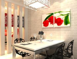 现代都市欧式大户型餐厅背景墙装修效果图