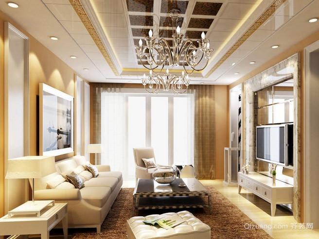 2016各式各样奢华大气客厅吊顶装修效果图