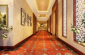 新中式快捷酒店走廊装修设计效果图