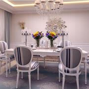 唯美法式复式楼家居餐厅效果图