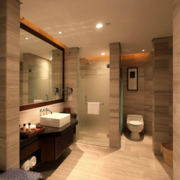 现代欧式大户型卫生间装修效果图鉴赏