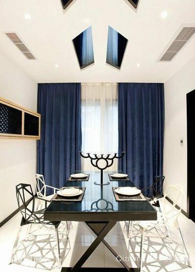 120平米现代化复式楼创意个性餐厅装修效果图