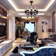 法式风格奢华大气客厅吊顶装饰
