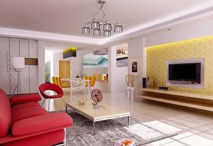 别墅豪华型客厅背景墙装修效果图