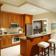2016现代大户型开放式厨房装修效果图鉴赏