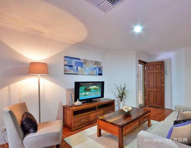 118平米简约复式楼客厅茶几装修效果图