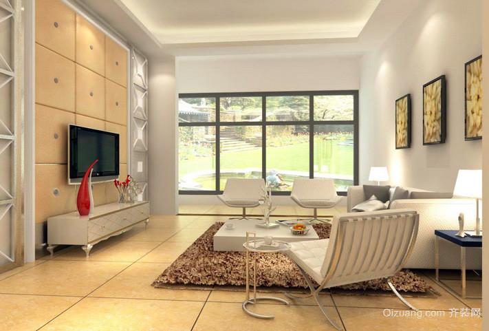 三居室简约风格客厅装修效果图欣赏