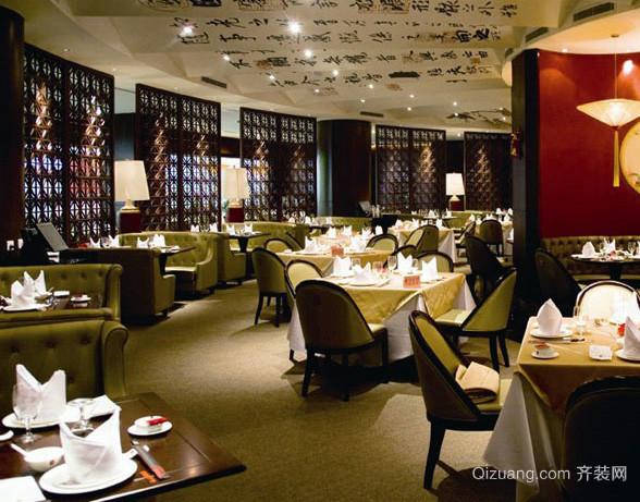 120平米大型中式风格深色系酒楼装修效果图