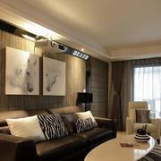 简约风格样板房沙发装饰