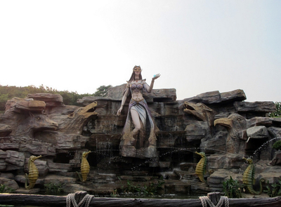 梦幻大型游乐场美人鱼喷泉设计图片