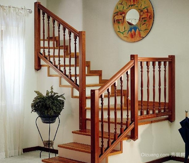 现代大户型欧式实木楼梯装修效果图鉴赏