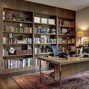 美式简约风格整体式书架装饰