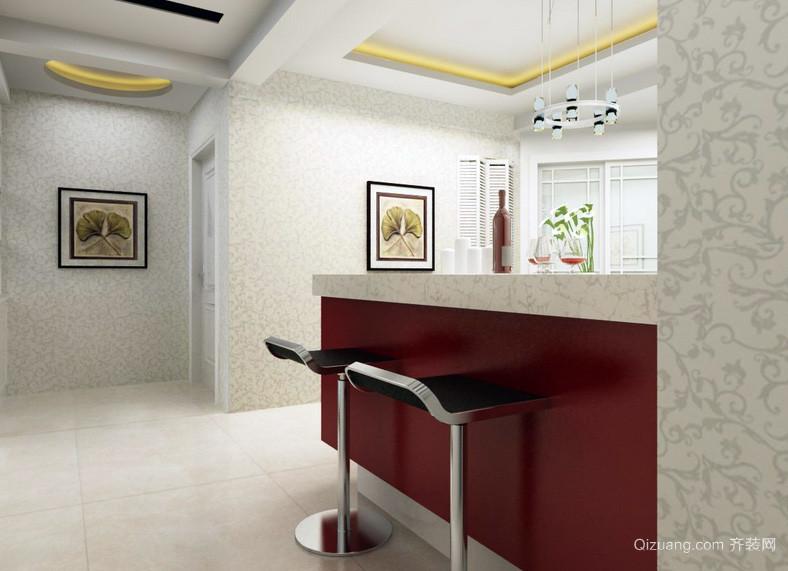 138平米现代风格吧台设计装修效果图