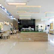 现代大气大型售楼处大堂抛光砖贴图