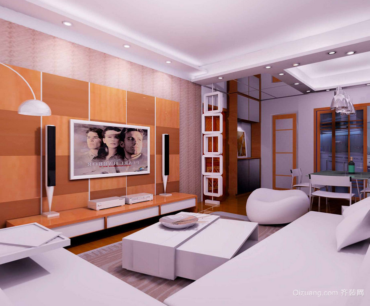 2015现代大户型欧式客厅装修效果图欣赏