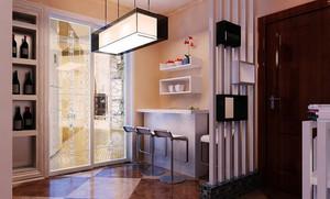 120平米创意吧台设计装修效果图