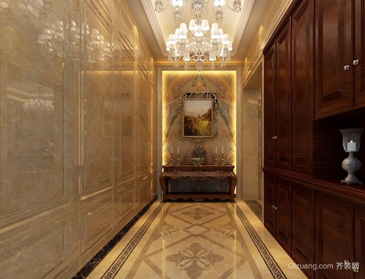 欧式大户型进门玄关装修效果图实例欣赏