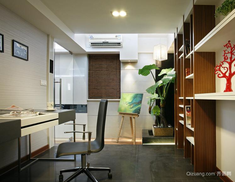 精致的现代大户型小书房装修效果图鉴赏