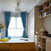 小复式楼欧式简约风格书房榻榻米装修效果图