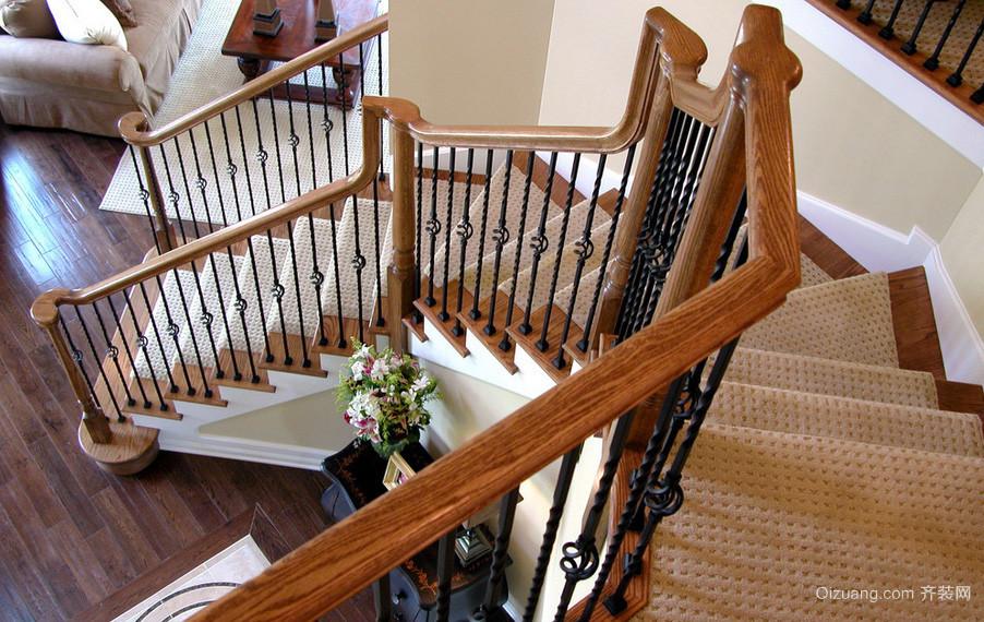 120平米阳光系列室内楼梯设计效果图